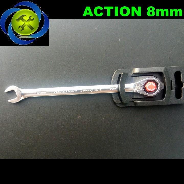 Cờ lê vòng miệng tự động Action 8mm 1