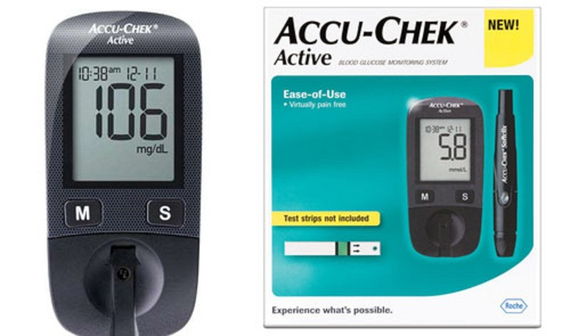 Máy Đo Đường Huyết Accu Chek Active -TẶNG 1 nhiệt kế [Y TẾ ĐỨC ANH] 1