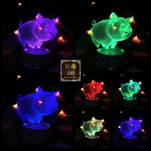 Đèn ngủ 3D CON HEO 16 MÀU kèm điều khiển, đèn trang trí, quà sinh nhật - 6427972 , 13051398 , 15_13051398 , 375000 , Den-ngu-3D-CON-HEO-16-MAU-kem-dieu-khien-den-trang-tri-qua-sinh-nhat-15_13051398 , sendo.vn , Đèn ngủ 3D CON HEO 16 MÀU kèm điều khiển, đèn trang trí, quà sinh nhật