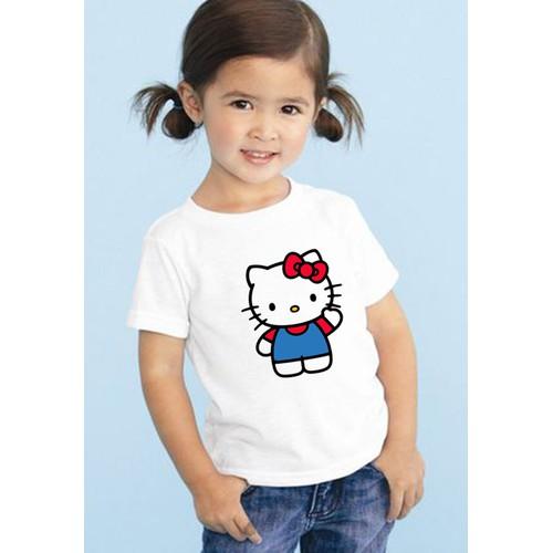 Áo thun bé gái in hình Kitty đáng yêu