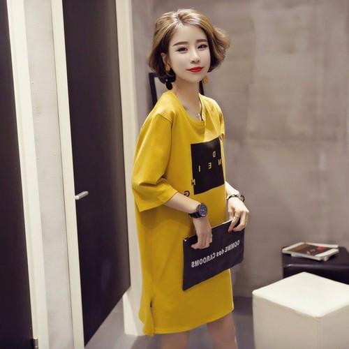 Đầm suông from rộng co gản 4 chiều , phong cách dễ thương 111