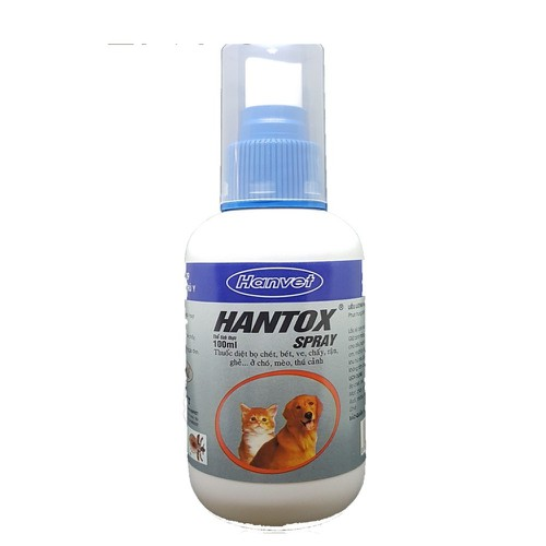 Hantox Spray 100ml Xịt Trị Ve Ghẻ, Bọ Chét Cho Chó Mèo