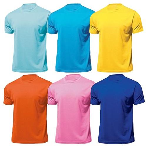 n Combo 6 áo thun trơn nam|Xanh dương, xanh ngọc,hồng phấn,vàng