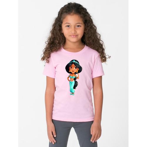 Áo thun bé gái in hình dễ thương - 6 màu