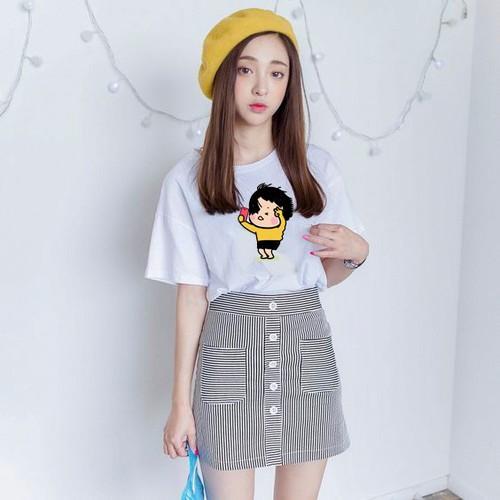 Áo thun nữ phong cách Hàn Quốc kiểu đơn giản AOT708 Thời trang Fantom