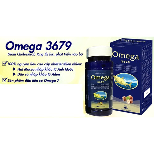Omega 3679  giảm Cholesterol, tăng thị lực, phát triển não bộ
