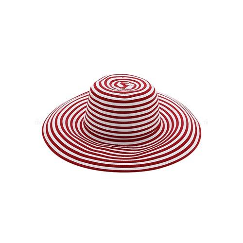 Mũ vải nữ vành rộng M-1 màu hồng trắng