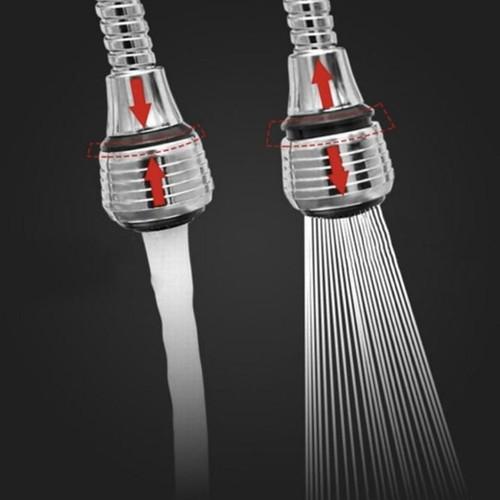 Vòi Nước Tăng Áp 360- Đầu vòi rửa tăng áp 2 chế độ nước dây dài 15cm CAM KẾT CHẤT LƯỢNG BỞI BÁCH HÓA ONLINE