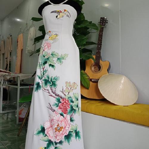 Vải áo dài vẽ Hoa Mẫu Đơn đẹp ,độc nhất  - Vẽ Áo Dài Brahma - 6447105 , 13072879 , 15_13072879 , 750000 , Vai-ao-dai-ve-Hoa-Mau-Don-dep-doc-nhat-Ve-Ao-Dai-Brahma-15_13072879 , sendo.vn , Vải áo dài vẽ Hoa Mẫu Đơn đẹp ,độc nhất  - Vẽ Áo Dài Brahma