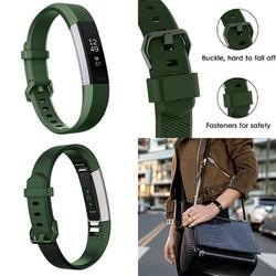 Dây Cao Su Thay Thế Cho Fitbit Alta - Alta HR Army Green Large 17-21cm