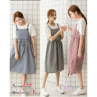 Váy yếm dáng dài dây cột ca rô - V07_ thumbnail