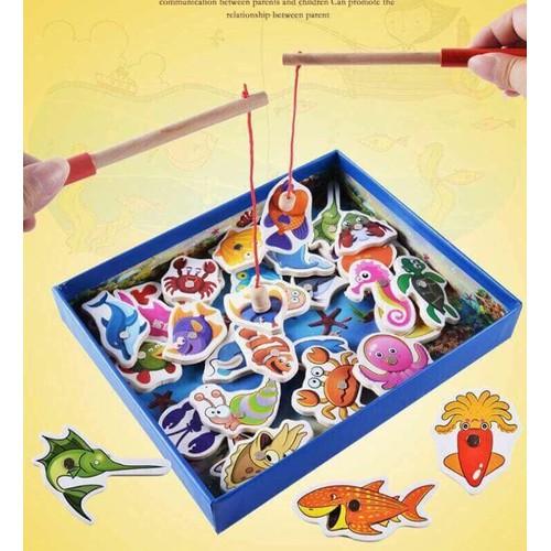 Bộ đồ chơi câu cá gỗ hít nam châm cho bé - 6448920 , 13075337 , 15_13075337 , 100000 , Bo-do-choi-cau-ca-go-hit-nam-cham-cho-be-15_13075337 , sendo.vn , Bộ đồ chơi câu cá gỗ hít nam châm cho bé