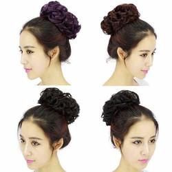 tóc cột búi xoăn( hỗ trợ phí 10k)
