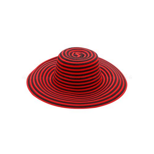 Mũ vải nữ vảnh rộng M-1 màu đỏ đen