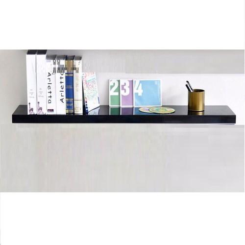 Kệ trang trí treo tường thanh ngang đen dài 60x15cm