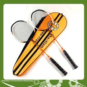 Bộ 2 vợt cầu lông Haotian 7725 cao cấp GreenNetworks - gng-bo-2-vot-cau-long-cam-den