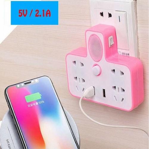 Ổ cắm đa năng - ổ cắm điện đa năng kèm 2 cổng USB có đèn ngủ CAM KẾT CHẤT LƯỢNG BỞI BÁCH HÓA ONLINE