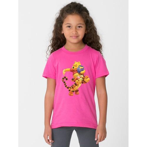Áo thun bé gái in hình hoạt hình - có 6 màu