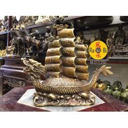 Thuyền Rồng Thuận Buồm Xuôi Gió - Tượng Đồng Phong Thủy