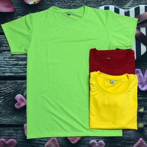 Combo 3 áo thun trơn Nam Nữ - Xanh Lá - Đỏ - Vàng Đậm