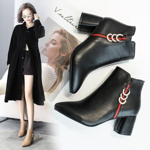 Giày bốt nữ - Giày boot nữ kéo khóa