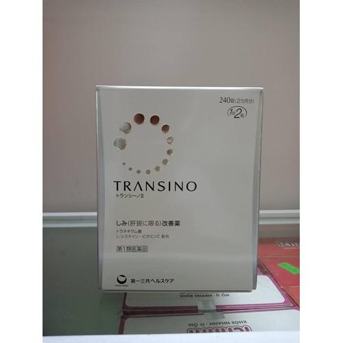 Viên uống Transino 240 trị nám, tàn nhang Nhật kèm bill