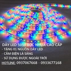 COMBO 10M ĐÈN LED DÂY FULL MÀU + TẶNG 01 NGUỒN DÂY LED