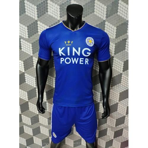 Bộ quần áo bóng đá Leicester City 2018-19 xanh sân nhà