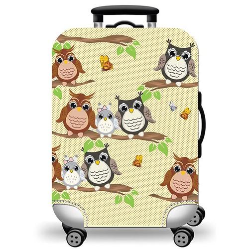 Túi bọc bảo vệ vali -Áo vỏ bọc vali Cú family SIZE S