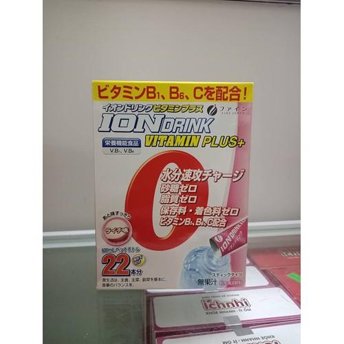 ION DRINK vị vải của hãng Fine Japan hộp 22 gói