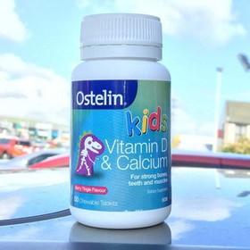 Vitamin Ostelin Kid Canxi - Vitamin D 50 Viên cho bé 2-13 Tuổi - VTM07