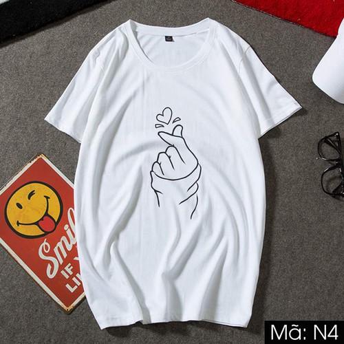 áo phông trắng bắn tim