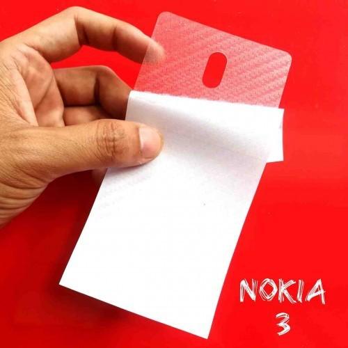 Miếng Decal Dán Lưng Nokia 3 Nhám Trong Carbon