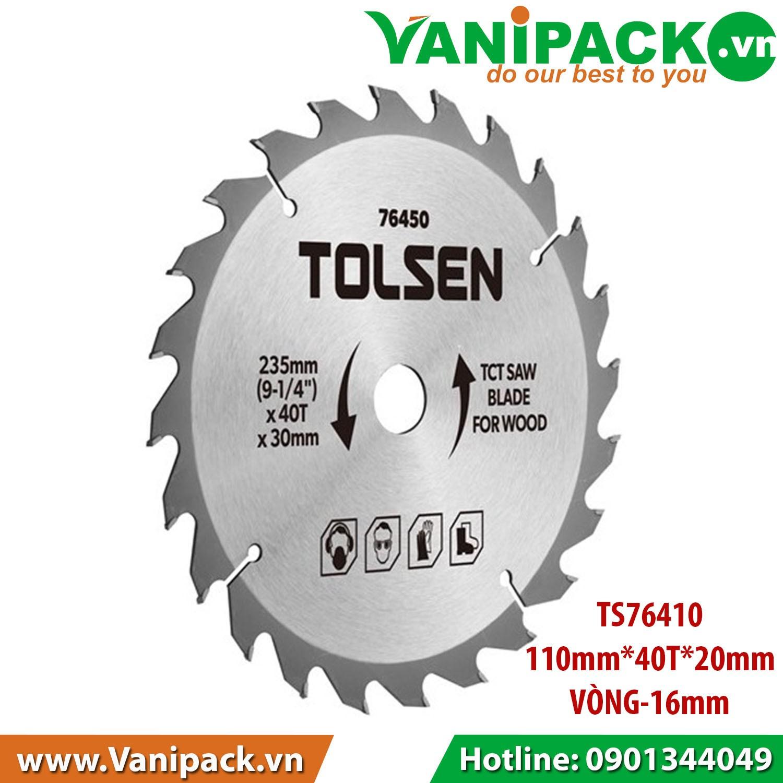 Đĩa Cắt Gỗ 110mm x 40T x 20mm Tolsen TS76410 - TS76410