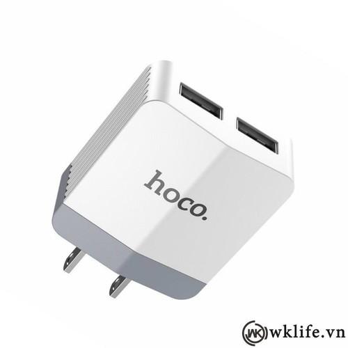 Cốc Sạc 2 Cổng USB 5V 2.4A Hoco C13B
