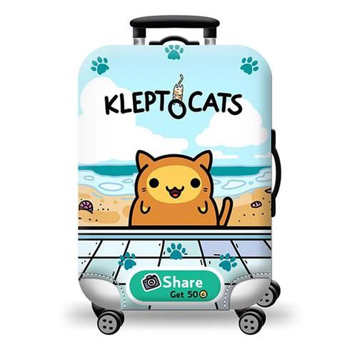 Túi bọc bảo vệ vali -Áo vỏ bọc vali KLEPT CAT HPVALI SIZE L