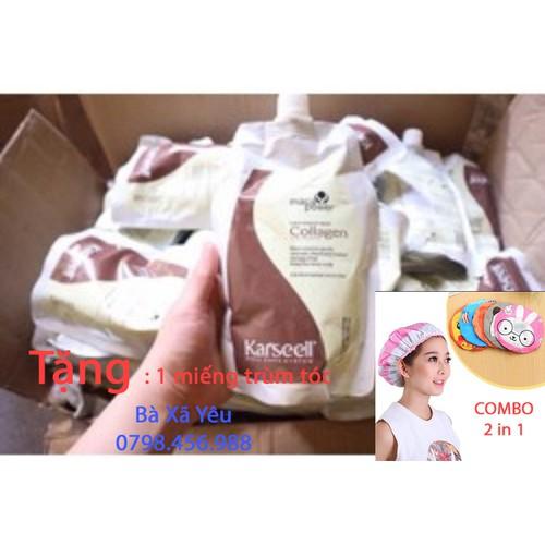 Dầu hấp tóc Collagen Karseell Maca + 1 trùm tóc