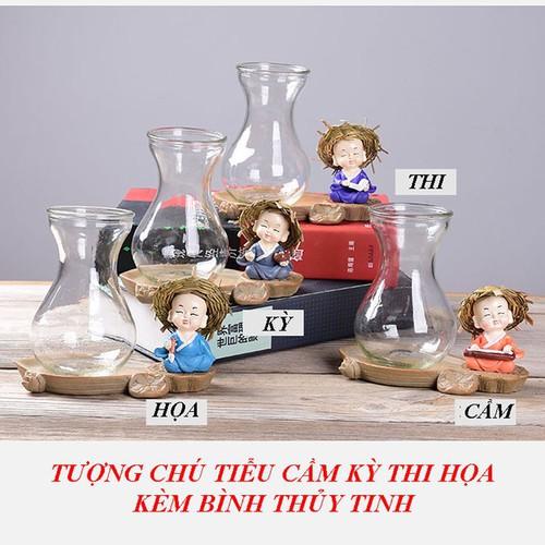 Tượng chú tiểu CẦM KỲ THI HỌA kèm bình thủy  tinh trồng cây thủy sinh - 6466161 , 13098726 , 15_13098726 , 160000 , Tuong-chu-tieu-CAM-KY-THI-HOA-kem-binh-thuy-tinh-trong-cay-thuy-sinh-15_13098726 , sendo.vn , Tượng chú tiểu CẦM KỲ THI HỌA kèm bình thủy  tinh trồng cây thủy sinh