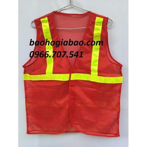 Áo lưới phản quang công nhân màu cam