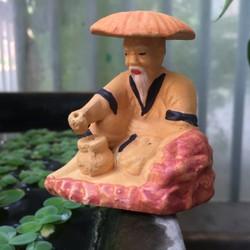 Ông Lão Ngồi Câu Cá-Trang Trí Hòn Non Bộ, Hồ Cá..