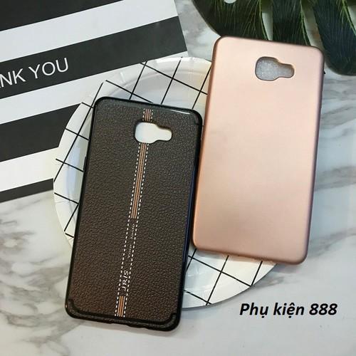 Ốp lưng Samsung Galaxy A9 trơn giả da