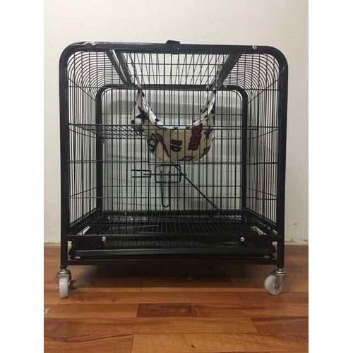 Lồng chuồng mèo 3 tầng sơn tĩnh điện nan ống size m