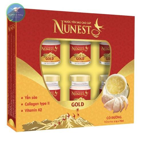 Hộp yến sào cao cấp collagen vitamin K2 có đường Nunest Gold 6 lọ x 70ml - 6480744 , 13117624 , 15_13117624 , 275000 , Hop-yen-sao-cao-cap-collagen-vitamin-K2-co-duong-Nunest-Gold-6-lo-x-70ml-15_13117624 , sendo.vn , Hộp yến sào cao cấp collagen vitamin K2 có đường Nunest Gold 6 lọ x 70ml