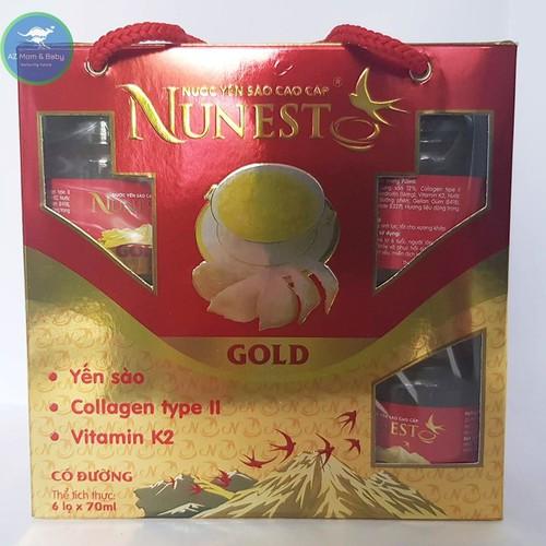 LỐC yến sào cao cấp collagen vitamin K2 có đường Nunest Gold 6 lọ x 70ml - 6480758 , 13117658 , 15_13117658 , 255000 , LOC-yen-sao-cao-cap-collagen-vitamin-K2-co-duong-Nunest-Gold-6-lo-x-70ml-15_13117658 , sendo.vn , LỐC yến sào cao cấp collagen vitamin K2 có đường Nunest Gold 6 lọ x 70ml