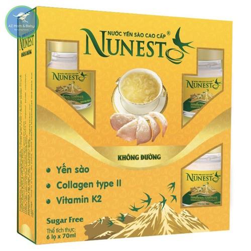 Hộp yến sào cao cấp collagen vitamin K2 Không Đường Nunest 6 lọ x 70ml - 4468340 , 13117310 , 15_13117310 , 315000 , Hop-yen-sao-cao-cap-collagen-vitamin-K2-Khong-Duong-Nunest-6-lo-x-70ml-15_13117310 , sendo.vn , Hộp yến sào cao cấp collagen vitamin K2 Không Đường Nunest 6 lọ x 70ml