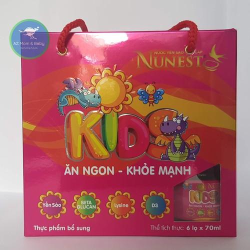 Lốc nước yến sào cho bé Nunest Kid 6 lọ x 70ml