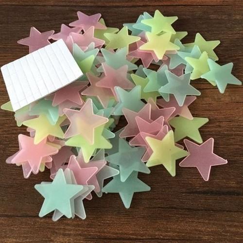 200 Ngôi sao Dạ quang dán tường 3.8cm