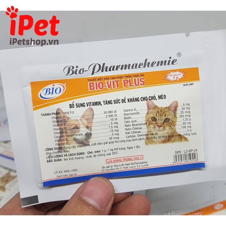 Thuốc Bột Bổ Sung Vitamin, Tăng Đề Kháng Cho Chó Mèo Bio-Vit 5g 1