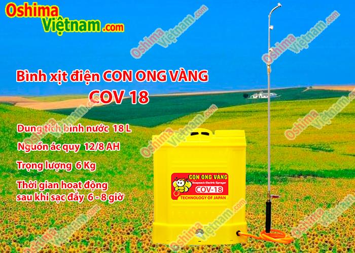 Bình xịt điện CON ONG VÀNG COV18