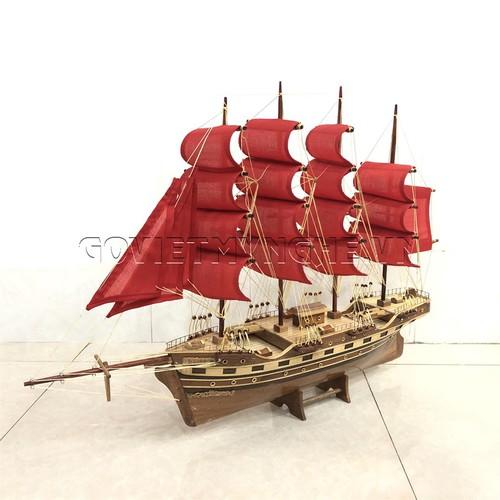 Mô hình thuyền gỗ chở hàng france ii - thân 60cm - loại 2